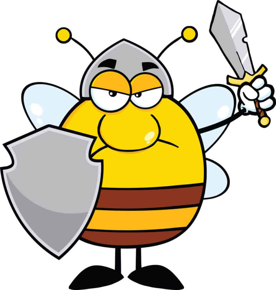angry-bee-with-shield-sword-illustration